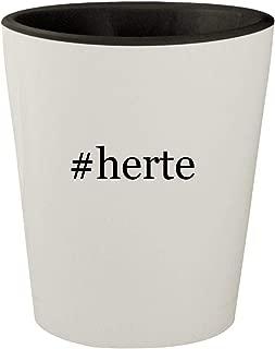#herte - White Outer & Black Inner Hashtag Ceramic 1.5oz Shot Glass
