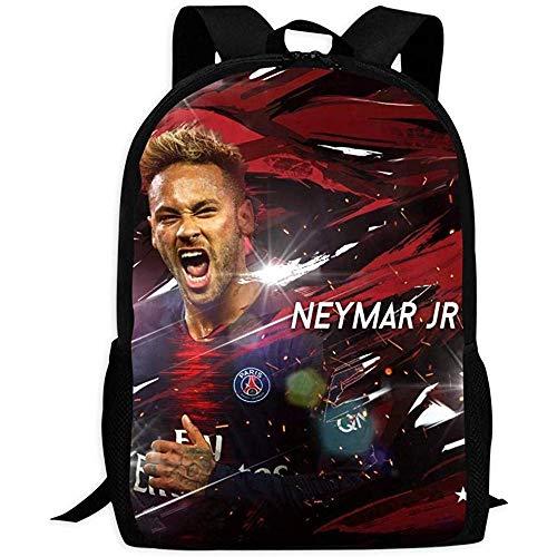 Rucksack, robuste Tasche, Fußball Neymar Jr Rucksack, modische Schultasche für Erwachsene