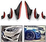 SIOM 6 Piezas Parachoques Delantero Canards Aletas Divisores Negro Brillante Spoiler De Carrocería para BMW E90 E92 E93 M3 2005-2012