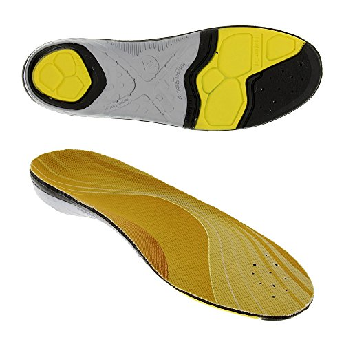Bama Outdoor Sport, Einlegesohlen für alle Sport-, Wander- und Trekkingschuhe, Unisex, Gelb/grau/Schwarz, 43/44