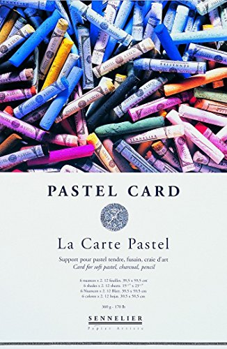 Sennelier La Carte Pastel Pad 12x16 2 Sheets of 6 Colors by Sennelier