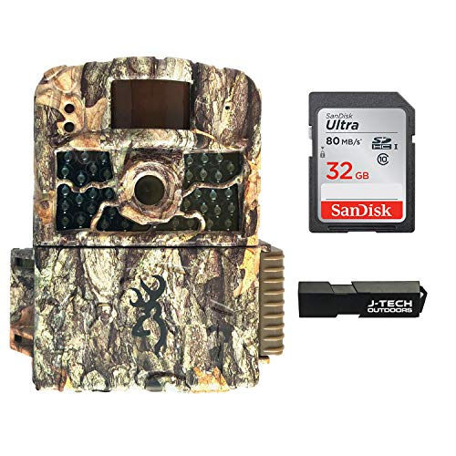 Browning Strike Force HD MAX Trail Game Camera Bundle Includes 32GB Memory Card and J-TECH Card Reader (18MP) | BTC5HDMAX