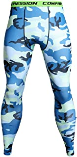 Men's Camo Compression Leggings Baselayer Running Tights Cool Dry Elasticity Moisture Wicking Sport Workout Pants,A,S