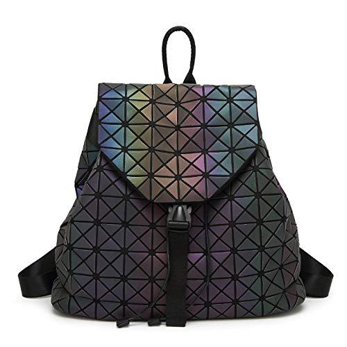 Ptcta Nueva Mochila Luminosa Bolso Plegable del Cubo de Rubik Costura Bolso de Viaje de Diamantes Bolso Plegable de Variedad