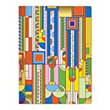 Frank Lloyd Wright Saguaro Cactus and Forms: Handmade Embroidered B5 Notebook