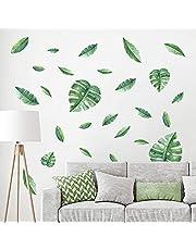 decalmile Muurstickers Groene Bladeren Muurtattoos Tropische Palmboom Bladeren Wanddecoratie Slaapkamer Huiskamer Kantoor Huis Decor