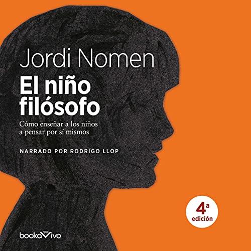 Diseño de la portada del título El niño filósofo