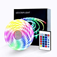 Wstan 16.4FT 150 LEDs IP65 Waterproof RGB Colorful LED Strip Lights