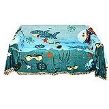 DBSCD Funda liberación Arena,Manta Sirena Blue Ocean Line Embellecimiento Protección Sofá Funda sofá,160x220cm