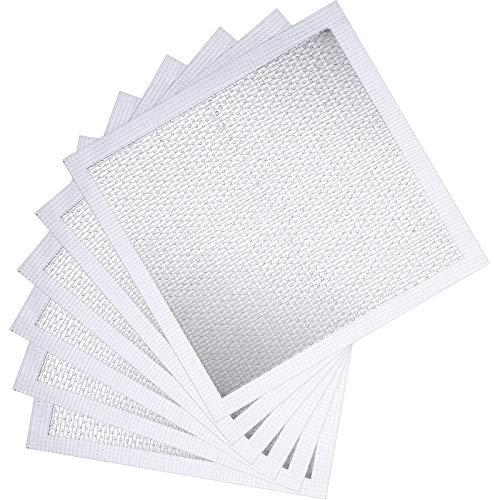 Patch de Réparation de Mur en Aluminium Réparation de Patchs dÉcran Auto-Adhésifs pour Plaque de Plâtre pour Cloison Sèche (6, 6 Pouces)