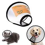 Cheaonglove Collar Isabelino Perro Perro Collares Salud Cono de Cuello de recuperación para heridas Pet Embudo Cono Perro Cono Suave Ajustable Mascotas Cono #6