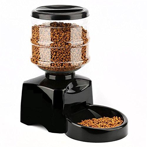 Goods & Gadgets Profi Futterautomat XXL Automatischer Futterspender zeitgesteuerter Futterstation Katzen Hunde Napf