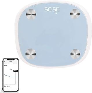 Body Fat Scale Bathroom Weight Scale Smart Digital Wireless Bluetooth Scale BMI Monitor Analyzer, 12 Body Composition Meas...