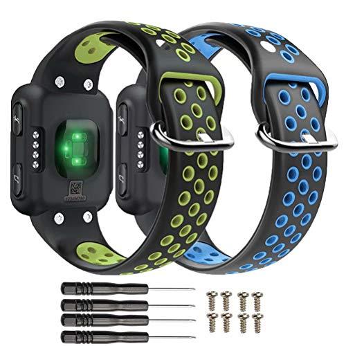 T-BLUER Watch Band Compatible for Garmin Forerunner 35 Bracelet,Accessoire de Courroie de Bracelet en Silicone Respirant Compatible pour Garmin Forerunner 35