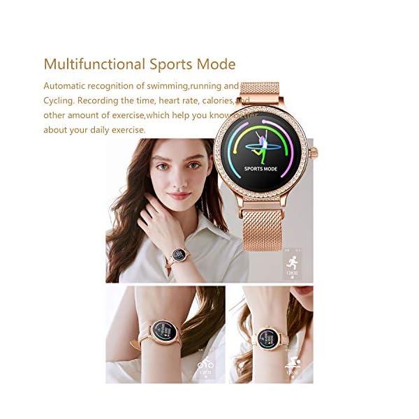 IP68 Fitness Tracker Watch – Smart Watch Bluetooth Podómetro Contador de Pasos Pulsera Inteligente Relojes para Mujeres… 7
