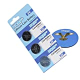 HQRP 3-Pack Coin Lithium Battery for X10 Remote Control KR22A + HQRP Coaster