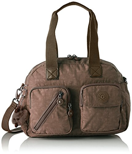 Kipling Defea Up, Women's Satchel, Beige (True Beige), 19 x 33 x 24.5 cm (B x H T)