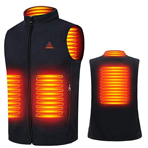 Bemega 電熱ベスト 電熱ジャケット USB加熱 3段階温度調整 防寒 ヒートベスト 水洗い可能 男女兼用 日本語説明書付き (ブラック, L)