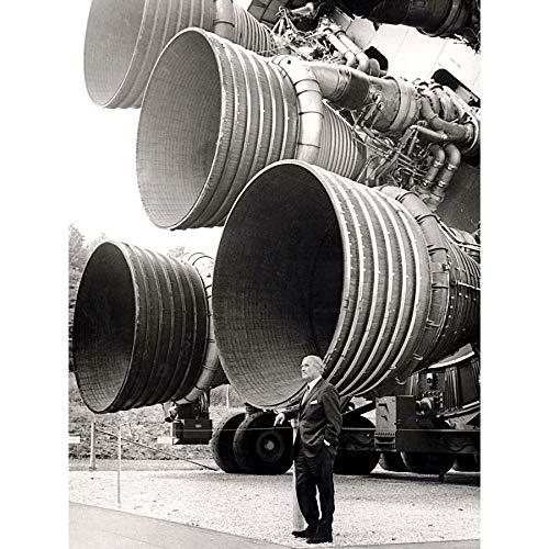 Space NASA Von Braun Saturn V F-1 Rocket Thrusters Photo Premium Wall Art Stampa su tela 45,5 x 64 cm
