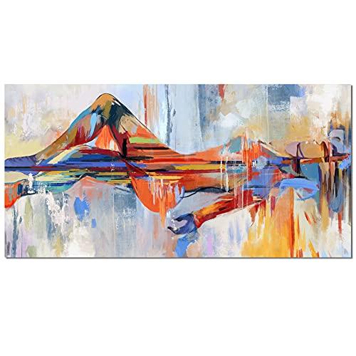 Sin marco Cuadro Modernos Mujer en el agua Lienzo Pintura Póster Cartel HD Impresión de Imagen cuadros decorativos Decoración de la pared del dormitorio de la sala de estar 70*140 cm