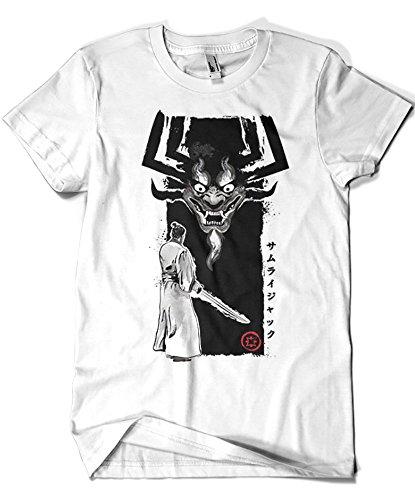 2040-Camiseta Premium, Samurai Jack - Return of The Samurai (Dr.Monekers)