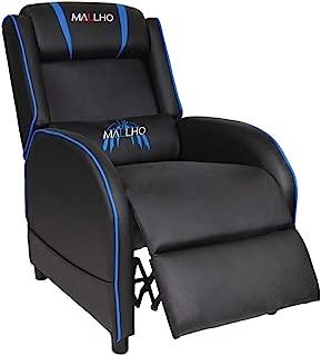 Polar Aurora Gaming Recliner Chair Single Living Room Sofa Recliner PU Leather Recliner Seat (Blue)