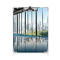 クリップボード A4 モダンな装飾 学用品A4 バインダー セントラルパークの森の写真 A4 タテ型 クリップファイル ワードパッド ファイルバインダー 携帯便利スカイブルーとグリーンのニューヨークUSAのメトロポリタン都市景観