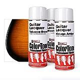 ColorTone Tinted Aerosol Guitar Lacquer 2-Tone Tobacco Sunburst Spray Set