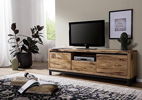 MASSIVMOEBEL24.DE TV-Board Wildeiche 170x40x56 Natur geölt VILLANDERS #113 modern