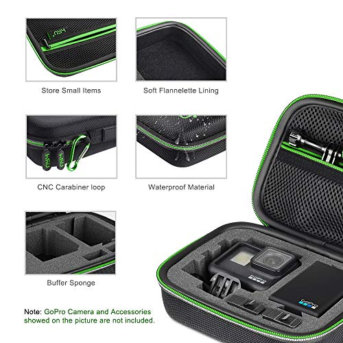 Carrying Case for GoPro Hero 9/8, Hero 7 Black,6,5, 4, Black, Silver, 3+, 3,Hero(2018) and Accessories,HSU Protective Security Bag, Storage Solution for Adventurers-Upgraded Interior Foam