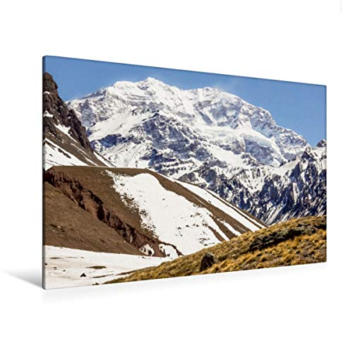 Premium - Lienzo (120 x 80 cm, horizontal), diseño de Aconcagua Gauchos - Anden - Cascadas, diseño de calvendo