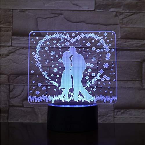 Hochzeitsdekoration Nachtlicht romantische Schlafzimmer Tischlampe Liebhaber Paar Geschenk...