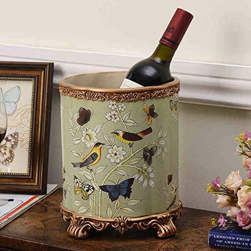 LYLSXY Estanterías de Vino, Resina Tallada con Hielo con Hielo en Forma de Cucharón Creativo Mueble de Vino Decoración Sala de Estar Restaurante Cocina Hogar Práctico,1