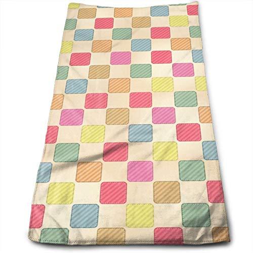 Hgdfhfgd - Toallas de mano con patrón de cuadros coloridos y sin costuras, ultra suaves y absorbentes, toallas de baño, toallas de ducha, toallas de hotel y gimnasio, 30,5 x 27,5 pulgadas