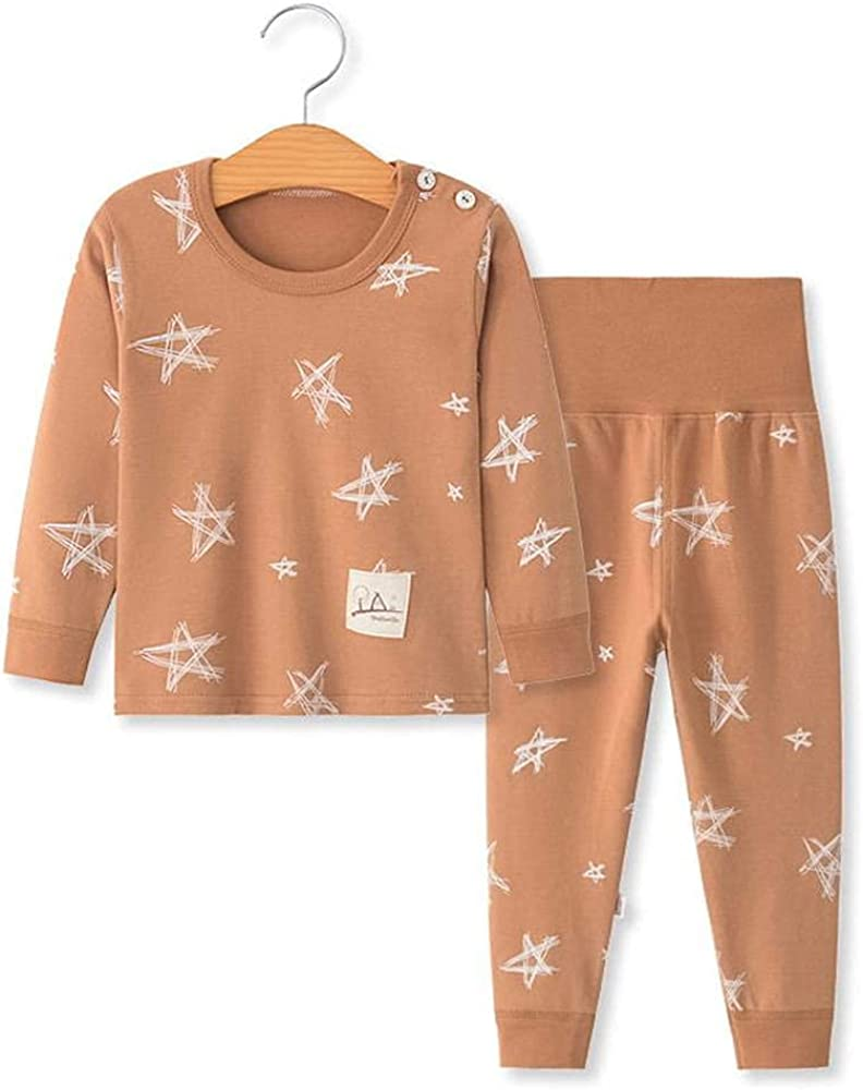 Baby Boys Girls Clothes Set Organic Cotton Soft Long Sleeve T-Shirt and Pants Outfit 2Pcs