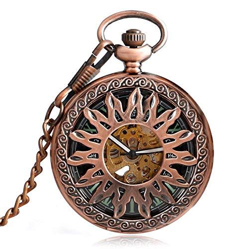 XIAOJIAN Exquisito reloj de bolsillo: Reloj de bolsillo, pequeño cráneo lindo Cuarzo Retro Steampunk Fantasma Collar Colgante Reloj Cadena Regalos Para Hombres Mujeres Niño Como CollectiblesComielD Có