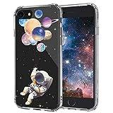MOSNOVO Coque iPhone 8, Coque iPhone 7, Planète Astronaute Clair Design Motif...