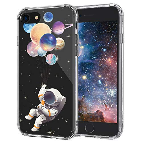 MOSNOVO iPhone SE 2020 Case, iPhone 8 Case, iPhone 7 Clear Case, Astronaut Planet Pattern Printed Clear Design Plastic Back Case with TPU Bumper Case Cover for iPhone 7 / iPhone 8 / iPhone SE 2020