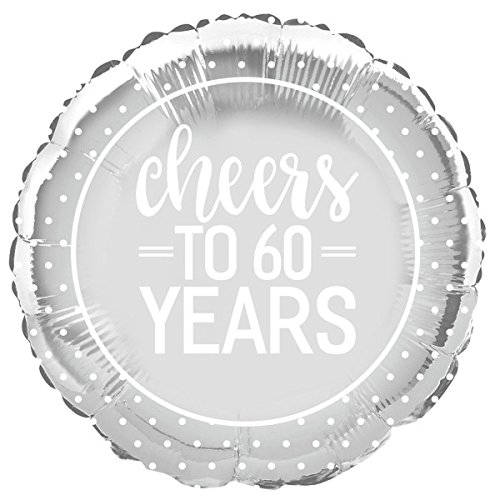 Cheers to Years Anniversary Party Supplies Ballon - 60 Jaar ZILVER