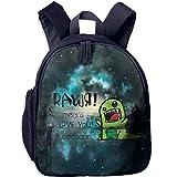 Rawr Means I Love You in Dinosaur Toddler Mini Backpack Shoulder Schoolbag with Front Pockets