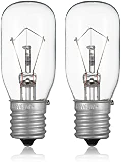 2pcs Microwave Bulb GE WB36X10003-125V 40W Incandescent Lamp Bulbs for Most General Electric, LG, Frigidaire, Kenmore Microwave, Universal Type Replacement E17 Base Socket Applications