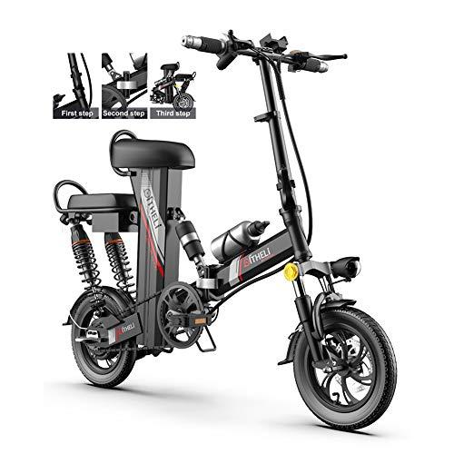 E-Bike Neumáticos De 12 Pulgadas Bicicleta Eléctrica Plegable Motor De 350 Vatios...