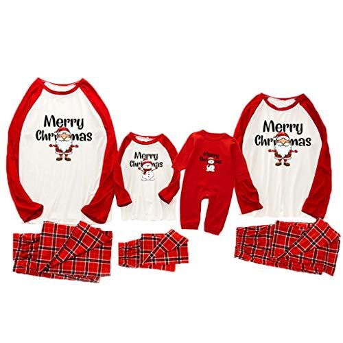 Schlafanzug Familien Pyjama Set Langarm Homewear Zweiteiliger Weihnachten...