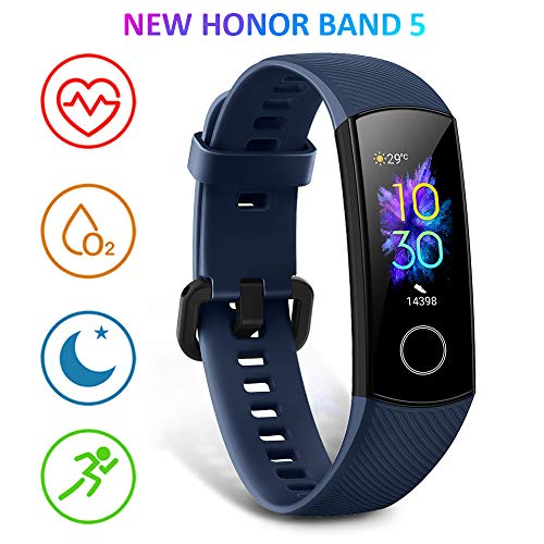 HONOR Band 5 Activity Tracker, Uomo Donna Smartwatch Orologio Fitness Cardiofrequenzimetro da Polso Impermeabile Smart Watch 0.95 Pollice Schermo a Co