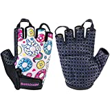 Bassdash UPF 50+ Kids' Gloves with Padded Grippy Palm UV Protection for Bicycles Fishing for 1-8 Years Old Boys Girls (Donuts, X-Large)