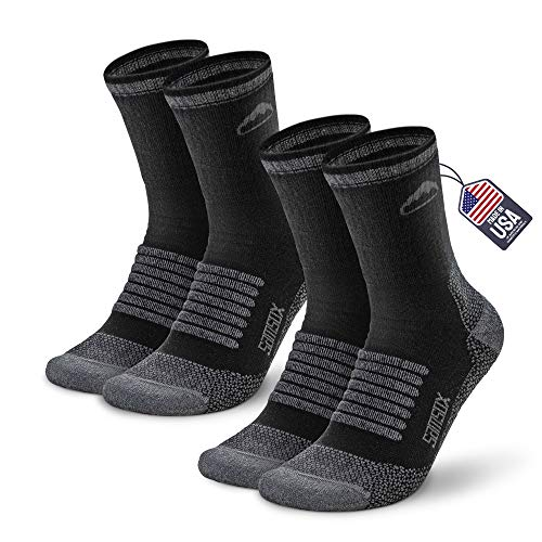 Samsox 2-Pair Merino Wool Hiking Socks, Made in...