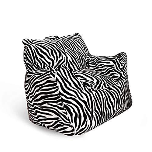 Kronleuchter Sitzsack Tatami Lazy Couch Dickes Kissen Einzigen Stoff Sofa Stuhl Schlafzimmer Einfacher Stuhl Abnehmbar Klein 60 × 48 × 55 cm (Color : Zebra Pattern)