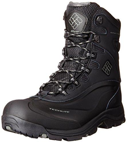 Columbia Men's Bugaboot Plus III Omni-M Snow Boot, Black/Charcoal, 8