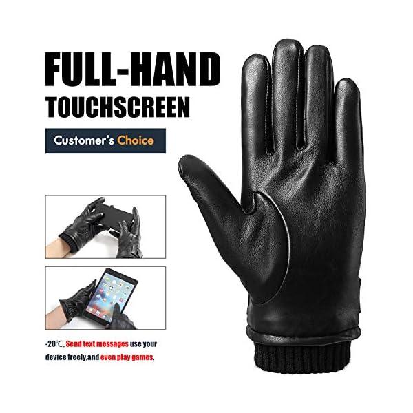 Flyhawk Winter Leather Gloves for Men 2