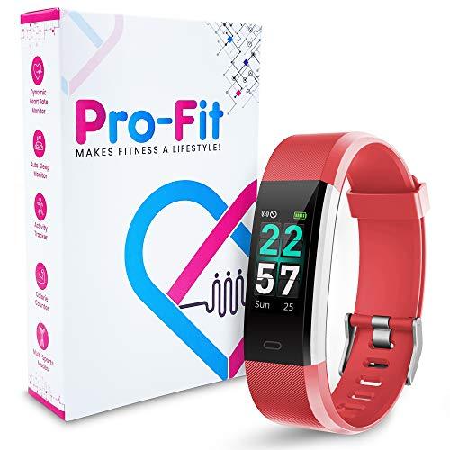Pro-Fit Smart VeryFitPro Fitness Tracker IP68 Waterproof Activity Tracker Heart Rate Sleep Monitor (Red)